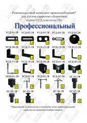 Комплект приспособлений ПРОФЕССИОНАЛЬНЫЙ для столов ССД СИСТЕМЫ 28