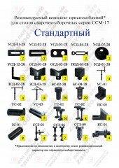 Комплект зажимов СТАНДАРТНЫЙ для столов ССМ-17