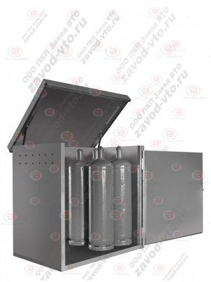 Контейнер для баллонов ХБ-01-04 предназначен для безопасного хранения восьми пропановых баллонов объёмом 50л.